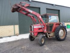 V reg MASSEY FERGUSON 575 2WD TRACTOR C/W 80 POWER LOADER (LOCATION SHEFFIELD) 5259 HOURS, NO V5 (
