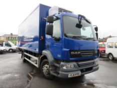 11 reg DAF FA LF55.180 14 TON INSULATED BOX VAN, DUAL TEMP, FIXED BULK HEAD INTERNALLY [+ VAT]
