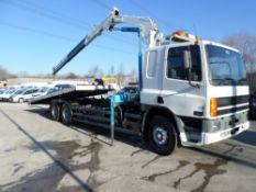 S reg DAF FAS 75 CF.290 TILT & SLIDE PLANT BODY C/W HYD WINCH (LOCATION SHEFFIELD) 1ST REG 10/98,
