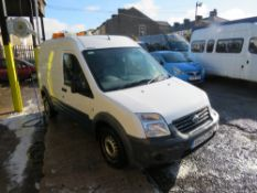 62 reg FORD TRANSIT CONNECT 90 T230 (DIRECT UNITED UTILITIES WATER) 1ST REG 10/12, [+ VAT]
