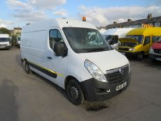 60 reg VAUXHALL MOVANO F3500 L2H2 CDTI 100 (DIRECT UNITED UTILITIES WATER) 1ST REG 10/10, TEST 08/