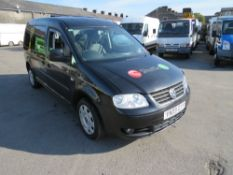 09 reg VW CADDY MAXI LIFE TDI SEMI AUTO WHEEL CHAIR ACCESSIBLE (DIRECT COUNCIL) 1ST REG 06/09,