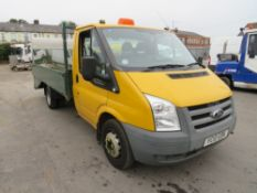 10 reg FORD TRANSIT 115 T350M RWD DROPSIDE (DIRECT COUNCIL) 1ST REG 03/10, TEST 04/21, 81751M, V5