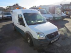 12 reg FORD TRANSIT CONNECT 90 T230 (DIRECT UNITED UTILITIES WATER) 1ST REG 07/12, TEST 07/21,