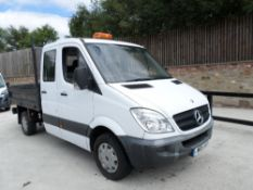 11 reg MERCEDES SPRINTER 313 CDI D/CAB TIPPER (LOCATION SHEFFIELD) 1ST REG 05/11, 67838M, V5 HERE, 1