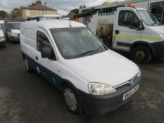 60 reg VAUXHALL COMBO 2000 CDTI (DIRECT UNITED UTILITIES WATER) 1ST REG 02/11, 133767M, V5