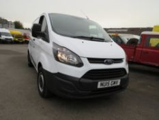 15 reg FORD TRANSIT CUSTOM 290 ECO-TECH, 1ST REG 03/15, TEST 12/20, 33730M WARRANTED, V5 HERE, 2