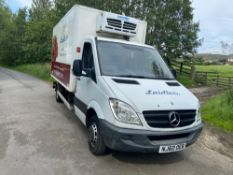60 reg MERCEDES SPRINTER 516 CDI FRIDGE VAN (LOCATION RAMSBOTTOM) 1ST REG 10/10, TEST 10/20,