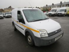 58 reg FORD TRANSIT CONNECT T220 L75 (DIRECT COUNCIL) 1ST REG 09/08, 52368M, V5 HERE, 1 FORMER
