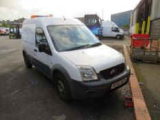 62 reg FORD TRANSIT CONNECT 90 T230 (DIRECT UNITED UTILITIES WATER) 1ST REG 10/12, TEST 06/21,