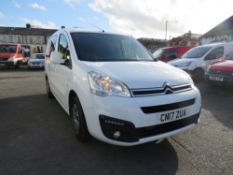 17 reg CITROEN BERLINGO 725 X BLUE HDI, 1ST REG 03/17, TEST 03/21, 83822M WARRANTED, V5 HERE, 1