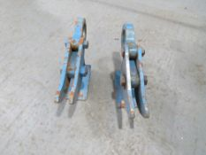 2 X 10 TON STEEL PLATE LIFTING CLAMPS [NO VAT]