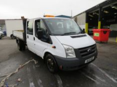 11 reg FORD TRANSIT 115 T350L D/C RWD TIPPER (DIRECT COUNCIL) 1ST REG 05/11, TEST 03/21, 99939M,