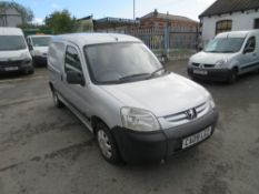 09 reg PEUGEOT PARTNER 600 HDI VAN, 1ST REG 07/09, TEST 08/21, 107487M, V5 HERE, 2 FORMER KEEPERS [