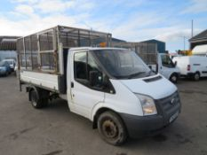 12 reg FORD TRANSIT 100 T350 RWD TIPPER (DIRECT COUNCIL) 1ST REG 06/12, TEST 06/21, 89846M, V5 HERE,