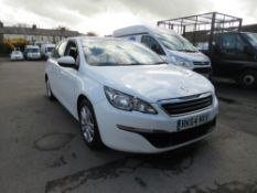64 reg PEUGEOT 308 HDI ACTIVE ESTATE, 1ST REG 09/14, TEST 09/21, 152573M WARRANTED, V5 HERE [NO VAT]