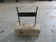 TRADITIONAL BOOT SCRAPER LEADED INTO NATURAL STONE BASE [NO VAT]