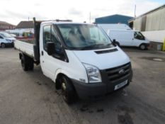 11 reg FORD TRANSIT 115 T330S LTD RWD TIPPER (DIRECT COUNCIL) 1ST REG 06/11, TEST 08/21, 74555M,