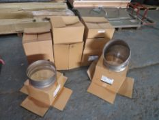 7 BOXES OF LARGE CHIMNEY FITTINGS [NO VAT]