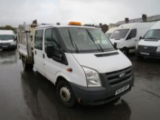 10 reg FORD TRANSIT 100 T350L D/C RWD TIPPER (DIRECT COUNCIL), 1ST REG 07/10, TEST 06/21, 50018M, V5
