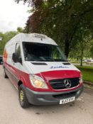 12 reg MERCEDES SPRINTER 313 CDI FRIDGE VAN (LOCATION RAMSBOTTOM) 1ST REG 03/12, TEST 10/21,