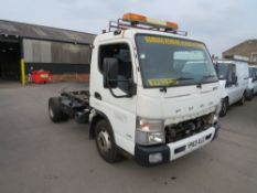 63 reg MITSUBISHI FUSO CANTER 7C18 34 AUTO CHASSIS CAB (DIRECT COUNCIL) 1ST REG 12/13, 95666M, V5