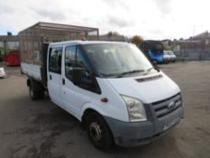 59 reg FORD TRANSIT 100 T350L D/C RWD TIPPER (DIRECT COUNCIL) 1ST REG 09/09, TEST 09/21, 67704M,