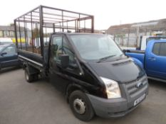 62 reg FORD TRANSIT 100 T350 RWD TIPPER (ON VCAR) 1ST REG 09/12, TEST 01/21, 61110M, PART V5