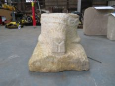 SHEEPS HEAD HAND CARVED IN NATURAL STONE [NO VAT]