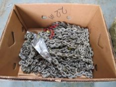BOX OF HEAVY CHAIN APPROX 22M [NO VAT]