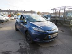 10 reg FORD FIESTA EDGE TDCI 68 HATCHBACK (DIRECT COUNCIL) 1ST REG 03/10, TEST 07/21, [NO VAT]