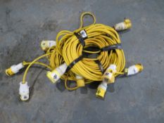 5 X 110V LEADS (DIRECT HIRE CO) [+ VAT]