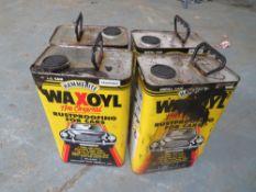 4 GALLON TINS WAXOYL [NO VAT]