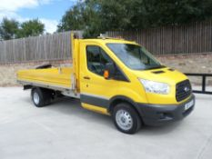 15 reg FORD TRANSIT 125 T350 TDCI S/CAB DROPSIDE PICKUP (LOCATION SHEFFIELD) 1ST REG 03/15,