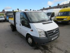 11 reg FORD TRANSIT 115 T350L D/C RWD TIPPER (DIRECT COUNCIL) 1ST REG 11/11, TEST 11/20, 110028M, V5