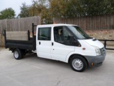 10 reg FORD TRANSIT 100 T350L D/C RWD DROPSIDE (LOCATION SHEFFIELD) 1ST REG 07/10, 36849M, V5