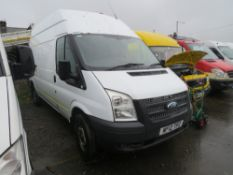 12 reg FORD TRANSIT 125 T350 RWD LWB HI ROOF (NON RUNNER - NO ENGINE OR GEARBOX) 1ST REG 05/12, NO