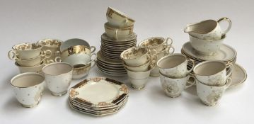 A Noritake part tea set together with various other ceramics heightened in gilt