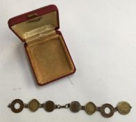 Bracelet with 5 annas coins and 2 coins India piece 1945