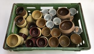 A mixed lot of studio ceramics, mostly goblets, to include 'The Friars, Aylesford'