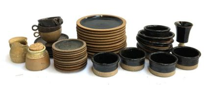 A large mixed lot of studio pottery to include Beresford Pealing pottery; Cranbrook Station Pottery