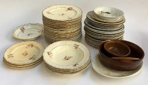 A mixed lot of various dinner plates, Denby dish etc