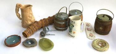 A mixed lot of ceramics to include a brewery interest 'JC & RH Palmer, Bridport' Jug , Lakes Cornish