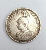 A German East Africa 1898 silver Rupie, OBV: GUILELMUS II IMPERATOR, REV: DEUTSCH-OSTAFRIKANISCHE