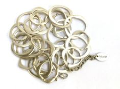 Silver coloured contemporary necklace by Treaty together with 6 other necklaces