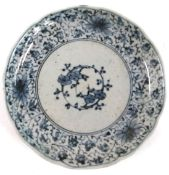A Japanese Imari porcelain plate, with floral design, Edo period, made in Hizen region, marks to