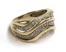 A 9ct gold zircon ring, 4.3g
