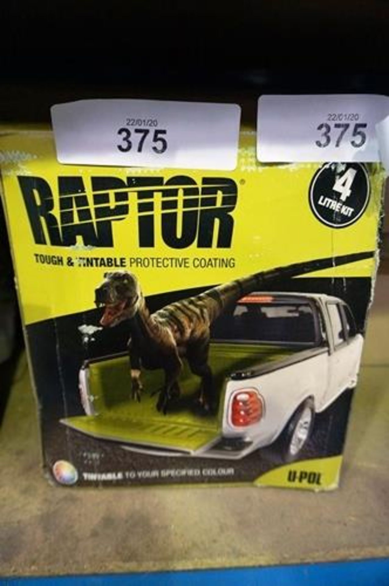 Lot 375 - Raptor tough and tintable pick-up truck protective coating kit - Sealed new (GS11)