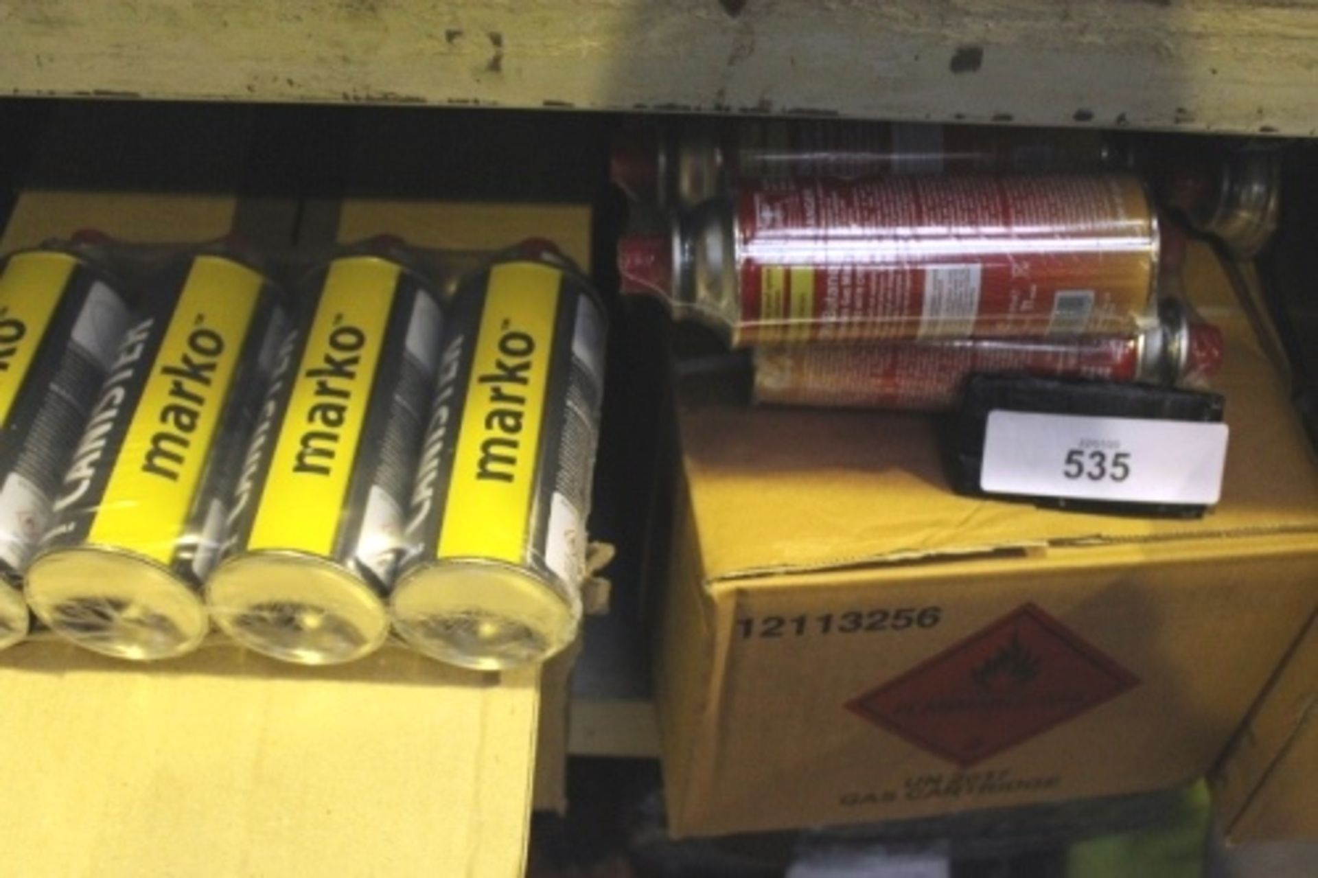 Lot 535 - 100 x butane gas canisters and 3 x Maxsun portable gas stoves, model MS-2500 - New(ES16)