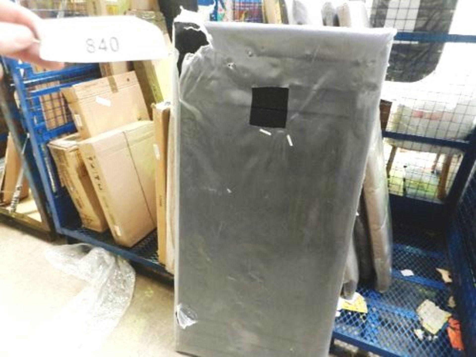 Lot 840 - 1 x black plus ribbed headboard, 140cm x 740cm - Sealed new (GSF56)